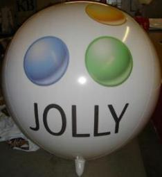 Giant 7 ft. Jolly logo balloon for advertising